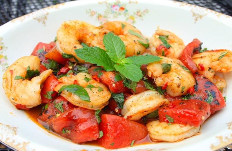Watermelon-Shrimp Salad - Watermelon health benefits
