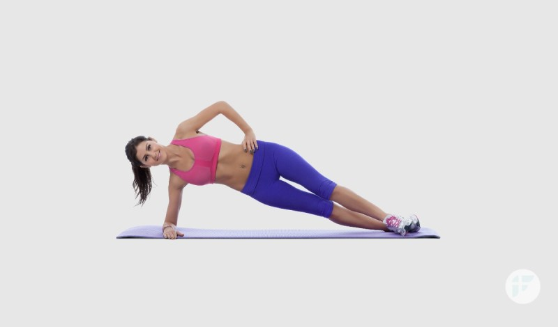 reduce Belly fat with Side Plank Exercise