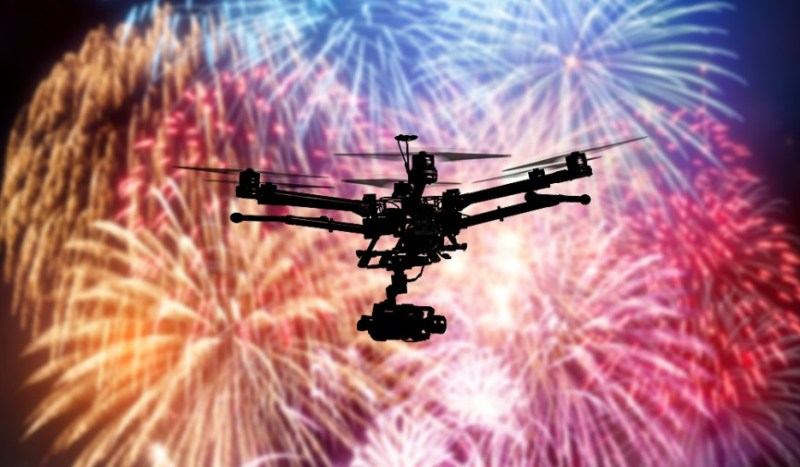 Drone Vehicle is used in Fireworks- Uses of Drones