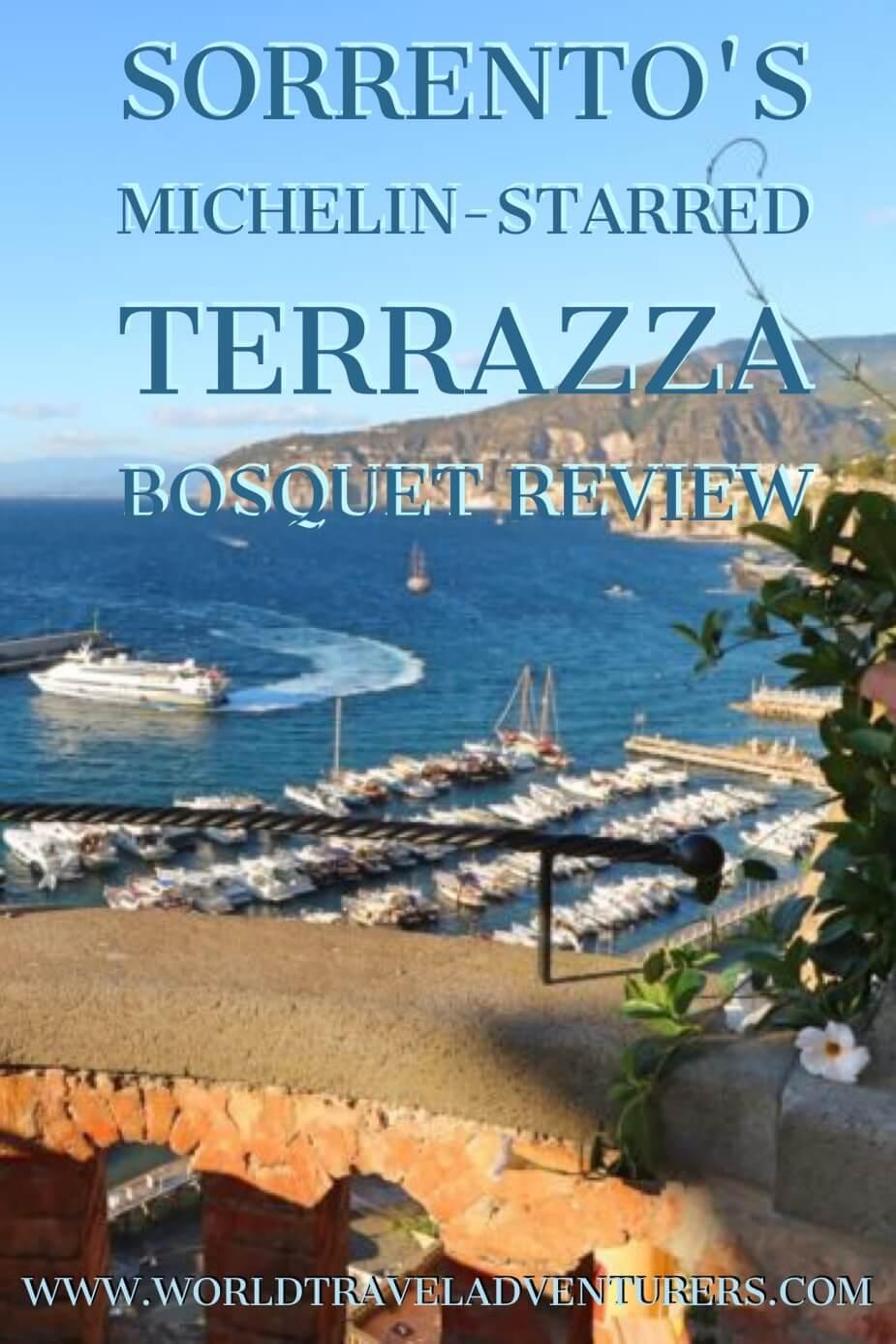 Sorrentos Michelin Star Terrazza Bosquet Review  Fine Italian dining
