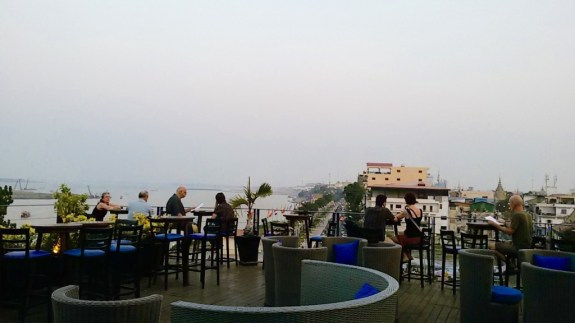 One of my favorite places for sunset: Le Moon rooftop bar