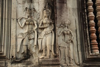 Beautiful Apsaras (celestial dancers)