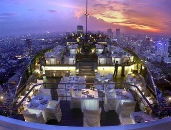 Moon Bar and Vertigo restaurant at Banyan Tree hotel Bangkok