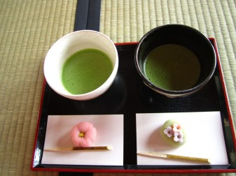 Green tea serving