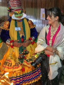 Kathakali performace. Kerala, India
