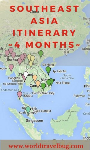 Southeast Asia Itinerary for 4 months