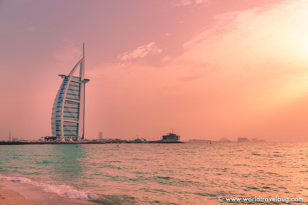 Dubai Burj Khalifa sunset