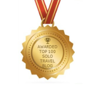 top 100 solo travel blog award