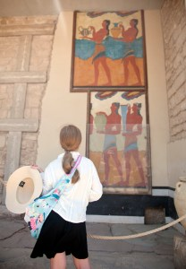 Heraklion, Knossos, Cup Bearer fresco - @World Travel Mama