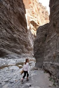 Samaria Gorge - gorgeous striations in the rock - @World Travel Mama