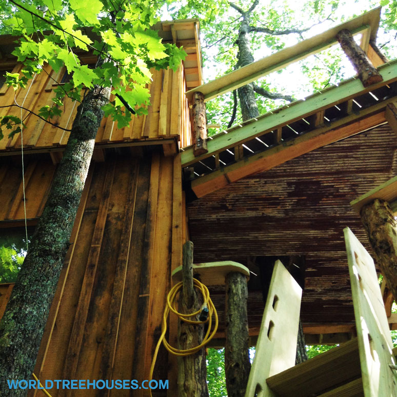 world treehouses doesnt just build in asheville nc we just completed this two story treehouse on a 1000 square foot deck in an idyllic mountain location - Biggest Treehouse In The World 2016