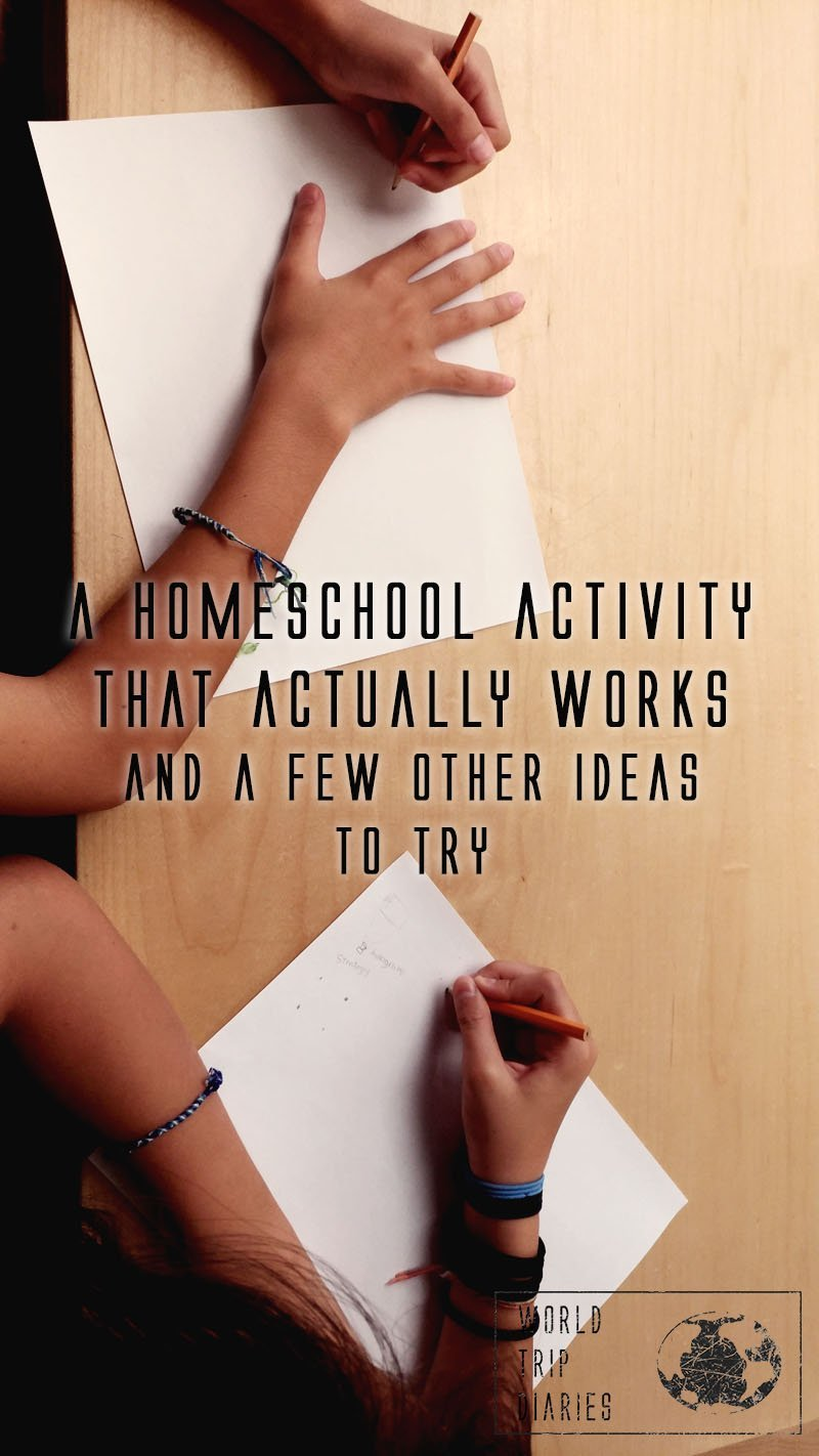 One of the only homeschool activities that has worked for months now. Click to read about it and a few other ideas!