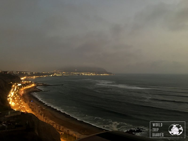 lima peru beach sunset