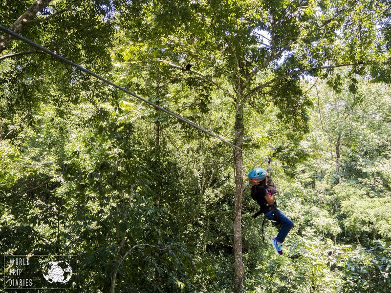 Zip lining is easily done in Manuel Antonio, Costa Rica. Most companies are very family friendly and it's a great day out for kids over 5!