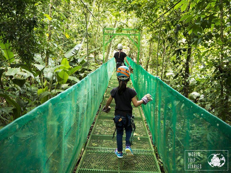 Most zip-line courses in Manuel Antonio, Costa Rica, are family friendly and offer a lot more than just zip lining. They are also very safe (at least most of them!).