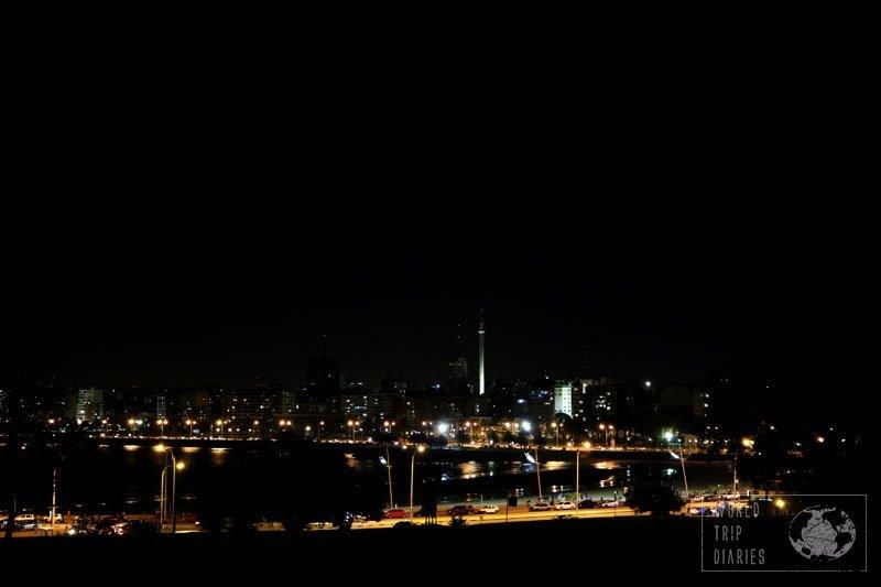 rambla night montevideo uruguay