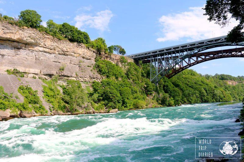 White Water Walk lets you walk on a path to see the Niagara River ver close and, maybe, get splashed. Click to read more!