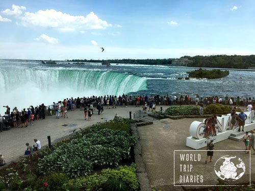 The amount of tourists in Niagara Falls, Canada, is impressive. Keep a hold on your kids for extra safety and enjoy