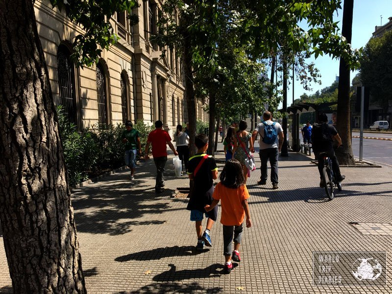 santiago chile walk