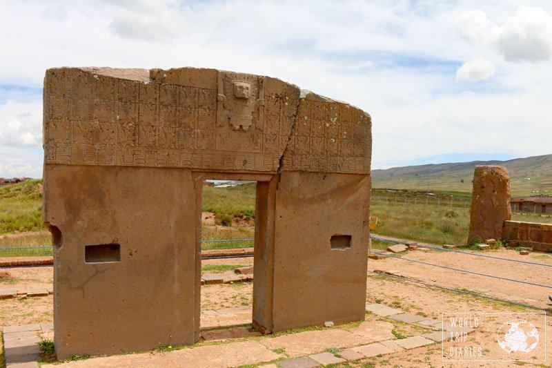 gate of the sun tiahuanaco tiwanaku bolivia