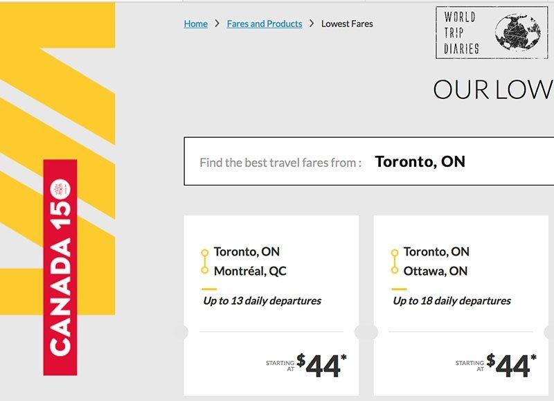 Via Rail Canada: 2 Cidades pelo mesmo preço