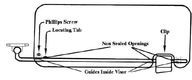 Installation Instructions for Mercedes-Benz W107 Sunvisors