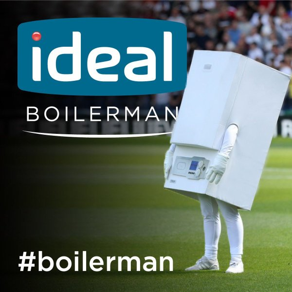 West Brom's new mascot, Boilerman
