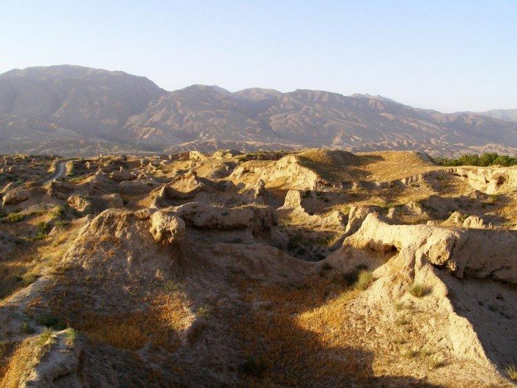 Ruins of ancient Penjikent, Tajikistan