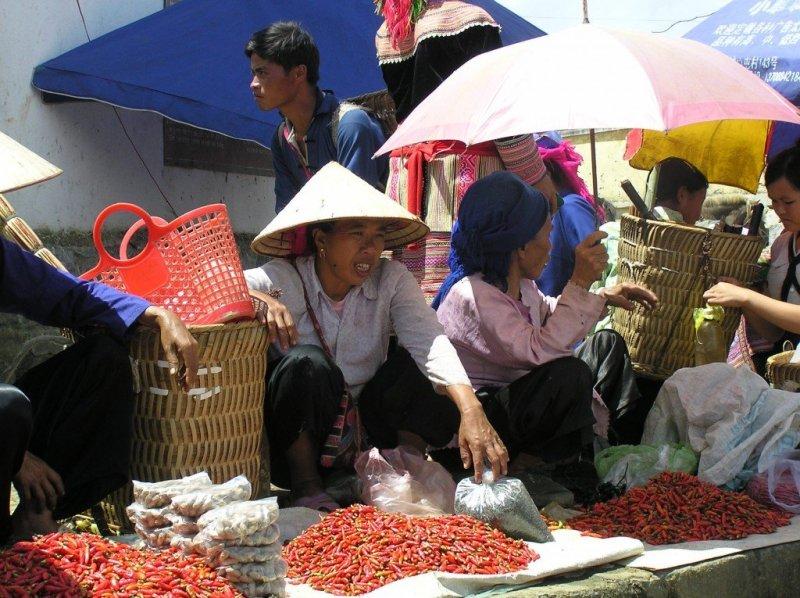 Chilli-sellers-Bac-Ha-market-Vietnam.