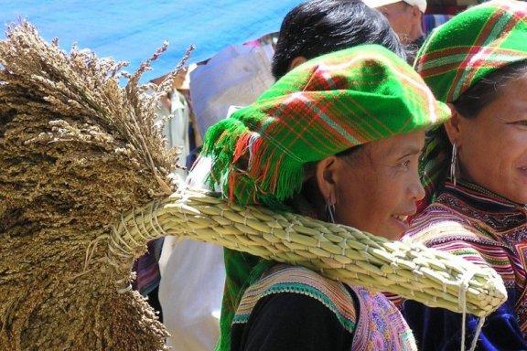 Flower Hmong at BacHa market in Vietnam