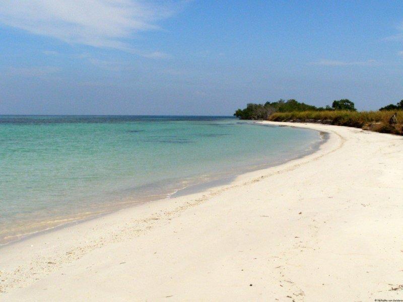 Deserted beach in Cuba
