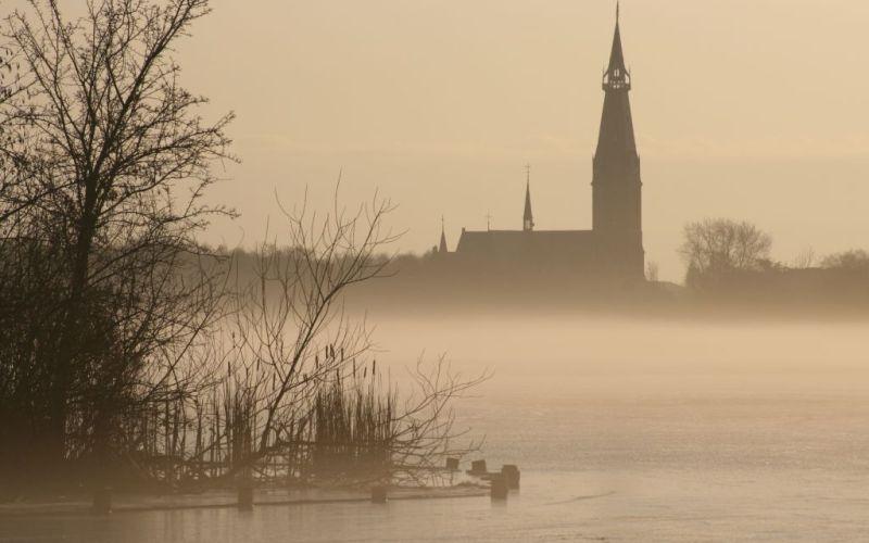 Frozen lake, Netherlands