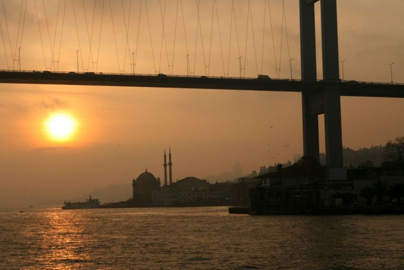 Bosphorus Cruise sunset, Istanbul, Turkey