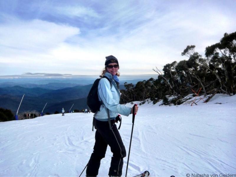 Skiing at Mt Buller VIctoria Australia