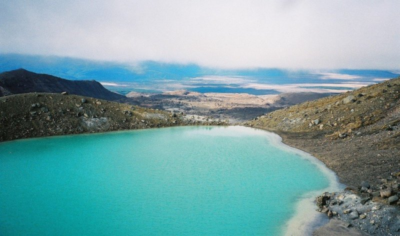 Blue Lake view - Tongariro Crossing, New Zealand