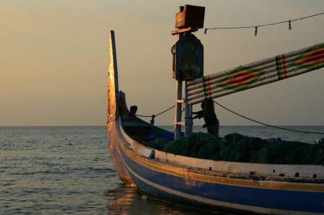 Fishing boat, Lovina, North Coast Bali