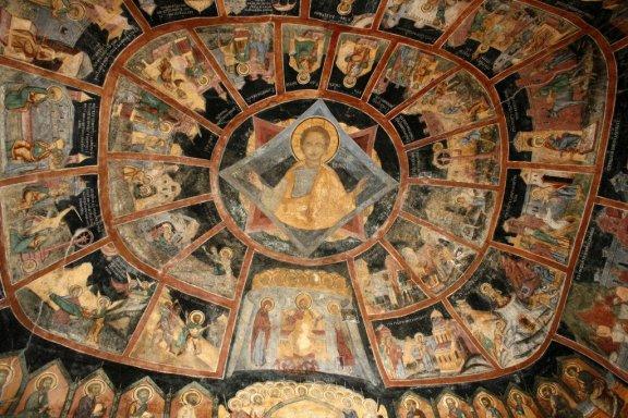 Sinaia Monastery frescoes, Romania