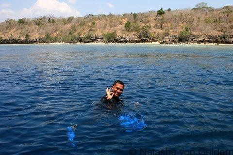 Dive instructor at Menjangan Island, West Bali National Park