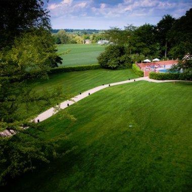 Maison Talbooth garden and pool - UK spa break