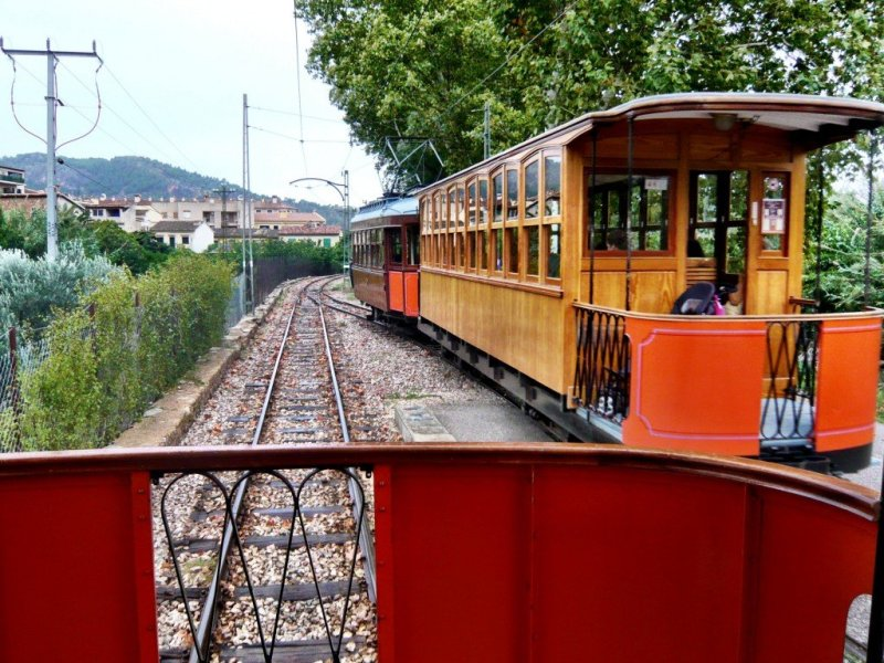 The Tren de Soller travels through Mallorca