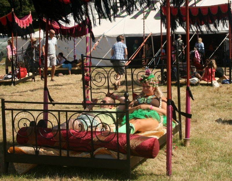 Hedonistic fun at Camp Bestival
