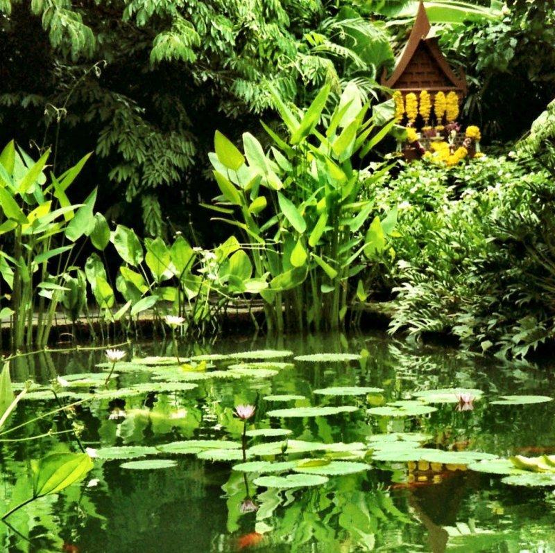 Jim Thompson House gardens in Bangkok