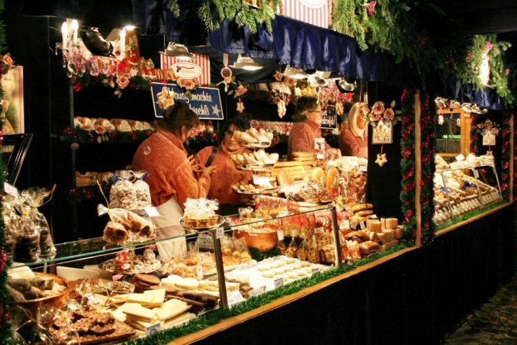 Basel Christmas market booth, Switzerland