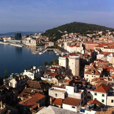 Campanile view of Split and Marjan Peninsula, Croatia