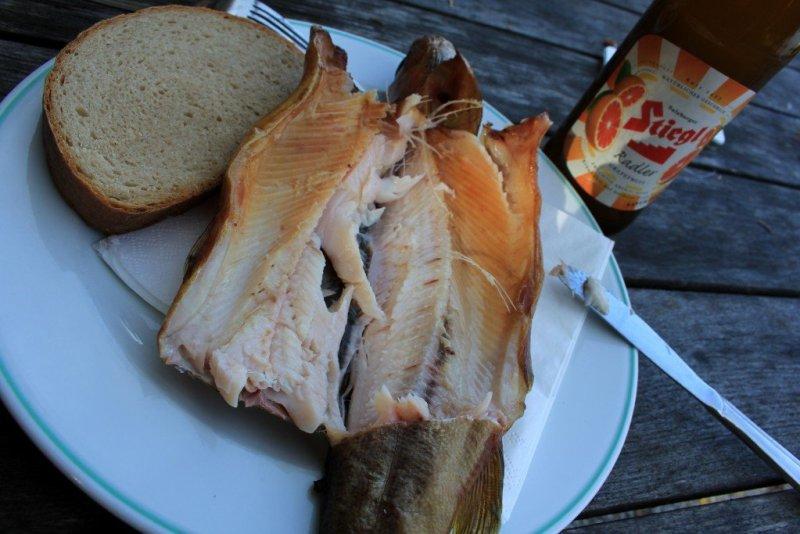 Lake Fuschl fish lunch, Salzburg