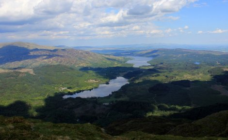 Loch Katrine from Ben Venue, The Trossachs, Scotland
