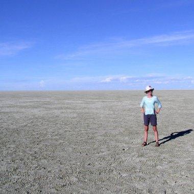 Salt pan of Etosha, Namibia