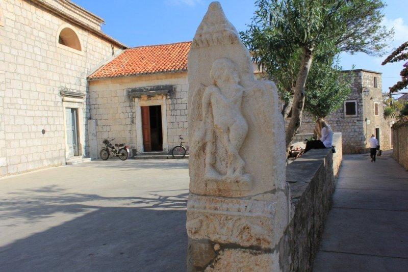 Roman gravestone in Stari Grad, Hvar