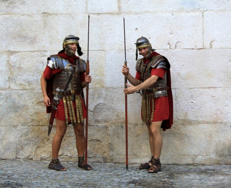 Romans guarding Diocletian's palace in Split