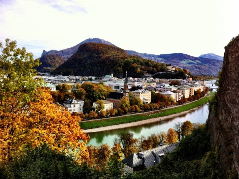 View of Gaisberg and Nockstein from Salzburg